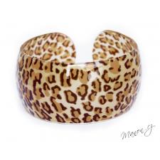 Náramek s leopardím vzorem světlý