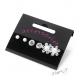 Sada - elegantní náušnice - perličky a květiny - 3 páry
