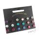 Sada náušnic - 9 párů - pecky s barevnými kamínky