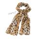 Šál s leopardím vzorem - hnědá a černá barva