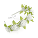 Věnečková čelenka z umělých květů - bílé květy