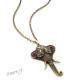 Orientální retro náhrdelník - slon starozlaté barvy