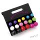 Sada - náušnice barevné kuličky - 3 velikosti, 9 barev