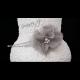 Čelenka s šedým květem a kamínky
