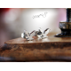 Ocelové náušnice - pecky - ptáci