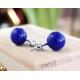 Náušnice - barevné kuličky - modré