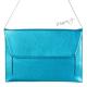 Hranatá kabelka - velké psaníčko - modrá