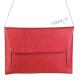 Hranatá kabelka - velké psaníčko - červená