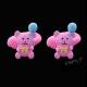 Gumičky s veselými medvídky - růžové - II. jakost