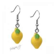 Náušnice citrony (háčky chirurgická ocel)