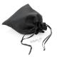 Dárkový sáček lesklý látkový - černý - velký