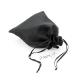 Dárkový sáček lesklý látkový - černý - střední
