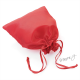 Dárkový sáček lesklý látkový - červený - velký