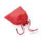 Dárkový sáček lesklý látkový - červený - malý