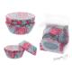 Papírové košíčky na muffiny - s růžičkami