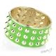 Náramek zelený s ostny