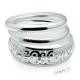 Sada náramků stříbrné barvy s ornamenty - 3 kusy