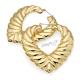 Náušnice velké kruhy srdce s 3D reliéfem - zlatá barva