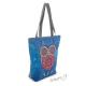 Nákupní kabela (taška) modrá s barevnou sovou