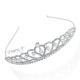 Luxusní svatební korunka s kamínky a perličkami