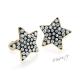 Náušnice klipsy hvězdy černé s třpytivými kamínky
