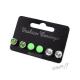 Sada náušnic - 3 páry - zelené a průhledné - II. jakost