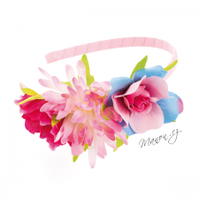 Letní květinová čelenka růžová