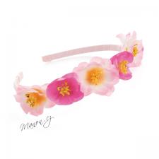 Letní květinová čelenka s drobnými růžovými kvítky