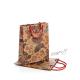 Dárková taška papírová přírodní hnědá s motýly - malá