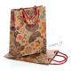 Dárková taška papírová přírodní hnědá s motýly - velká