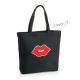 Nákupní kabela (taška) černá s pusou