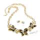 Sada náušnice a náhrdelník s hnědými motýly
