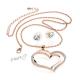 Luxusní sada náušnice a řetízek s přívěskem dvojité srdce