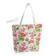 Letní květinová kabela (taška) s růžovými květy a listy