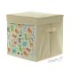 Plátěný úložný box krémový se zvířátky