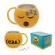 Emoji hrnek žlutý smajlík líný, spící, s nápisem CBA
