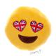 Polštářek smajlík se srdíčky - miluje Velkou Británii