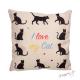 """Polštářek s kočkami a nápisem """"I Love My Cat"""""""