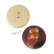 Dřevěný knoflík dekorační - sova hnědooranžová