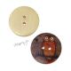Dřevěný knoflík dekorační - sova oranžová
